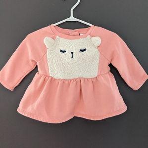 Polar bear pink peplum sweater